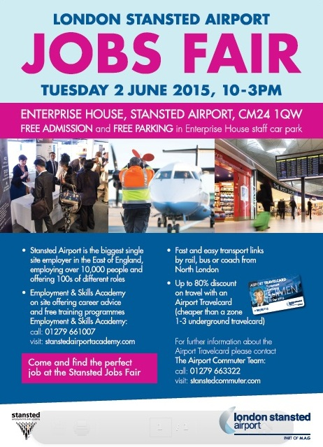 London Stansted Airport Jobs Fair Tues 2 June 2015
